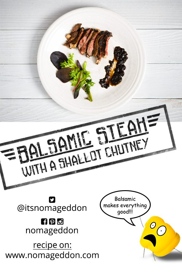 Balsamic Steak With a Shallot Chutney