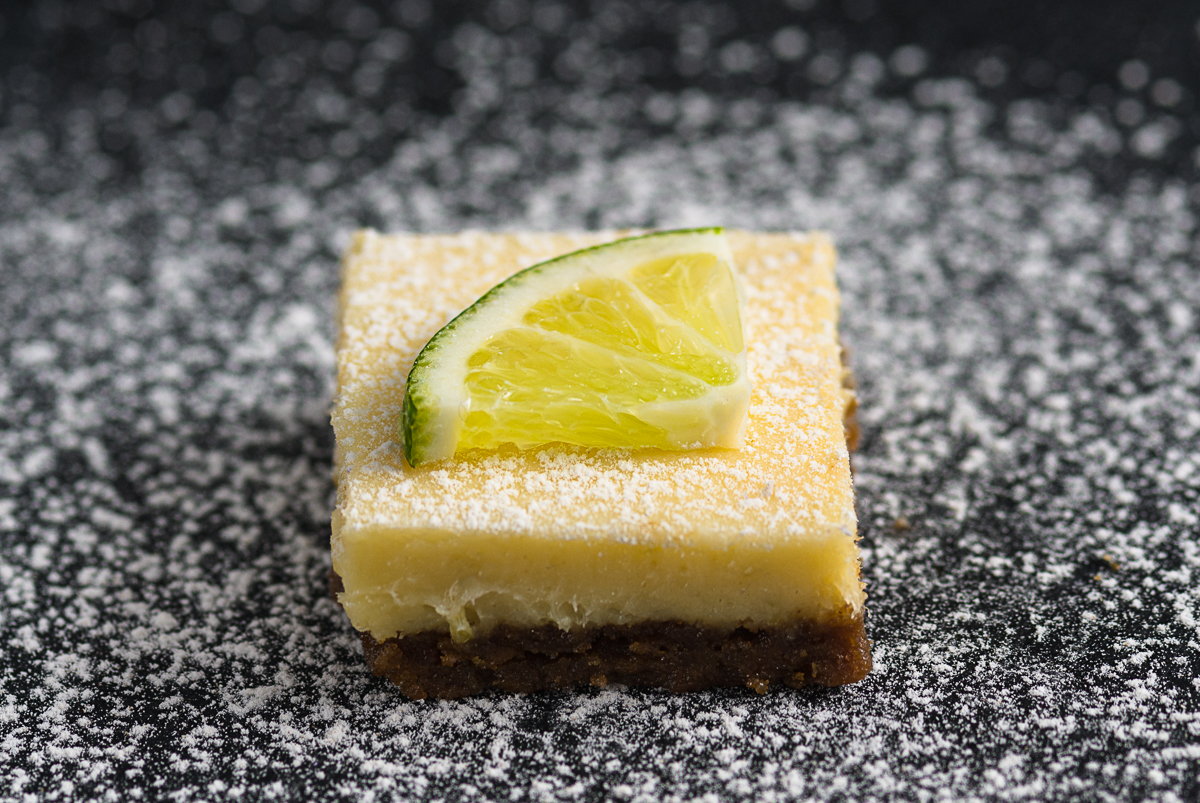 Key Lime Pie Bars With A Gingersnap Crust