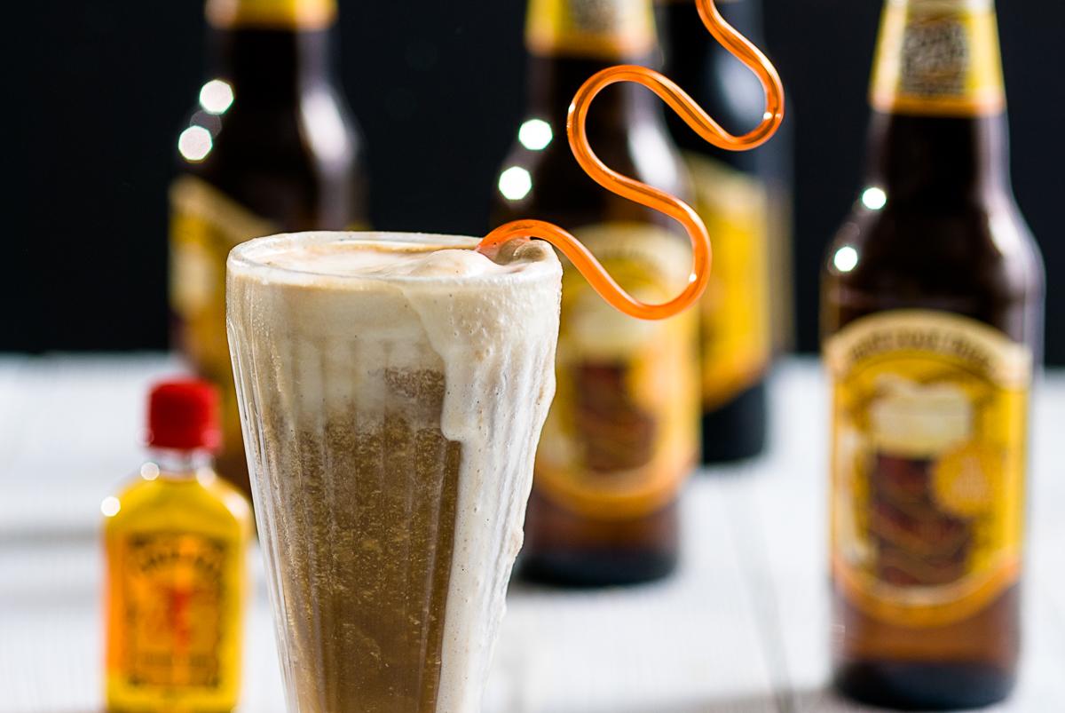 Hard Root Beer Fireball Float
