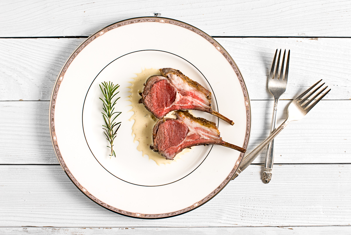 Lamb With A Cognac Dijon Cream Sauce