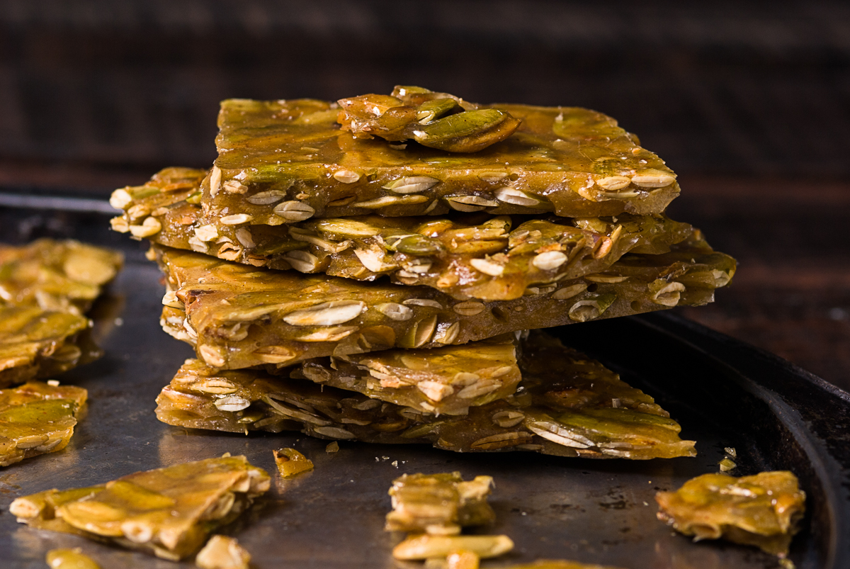 Chipotle Roasted Pumpkin Seed Brittle