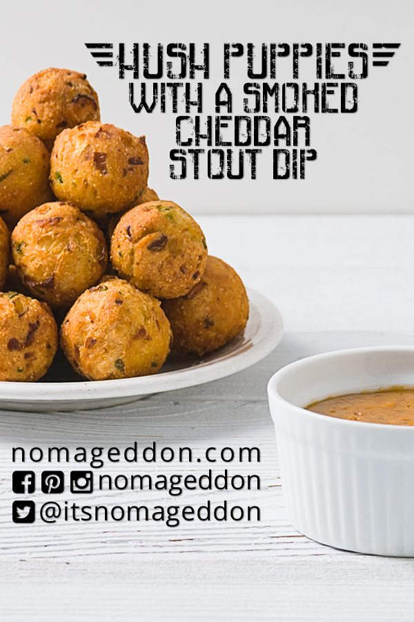 Hush Puppies With Smoked Cheddar Dip