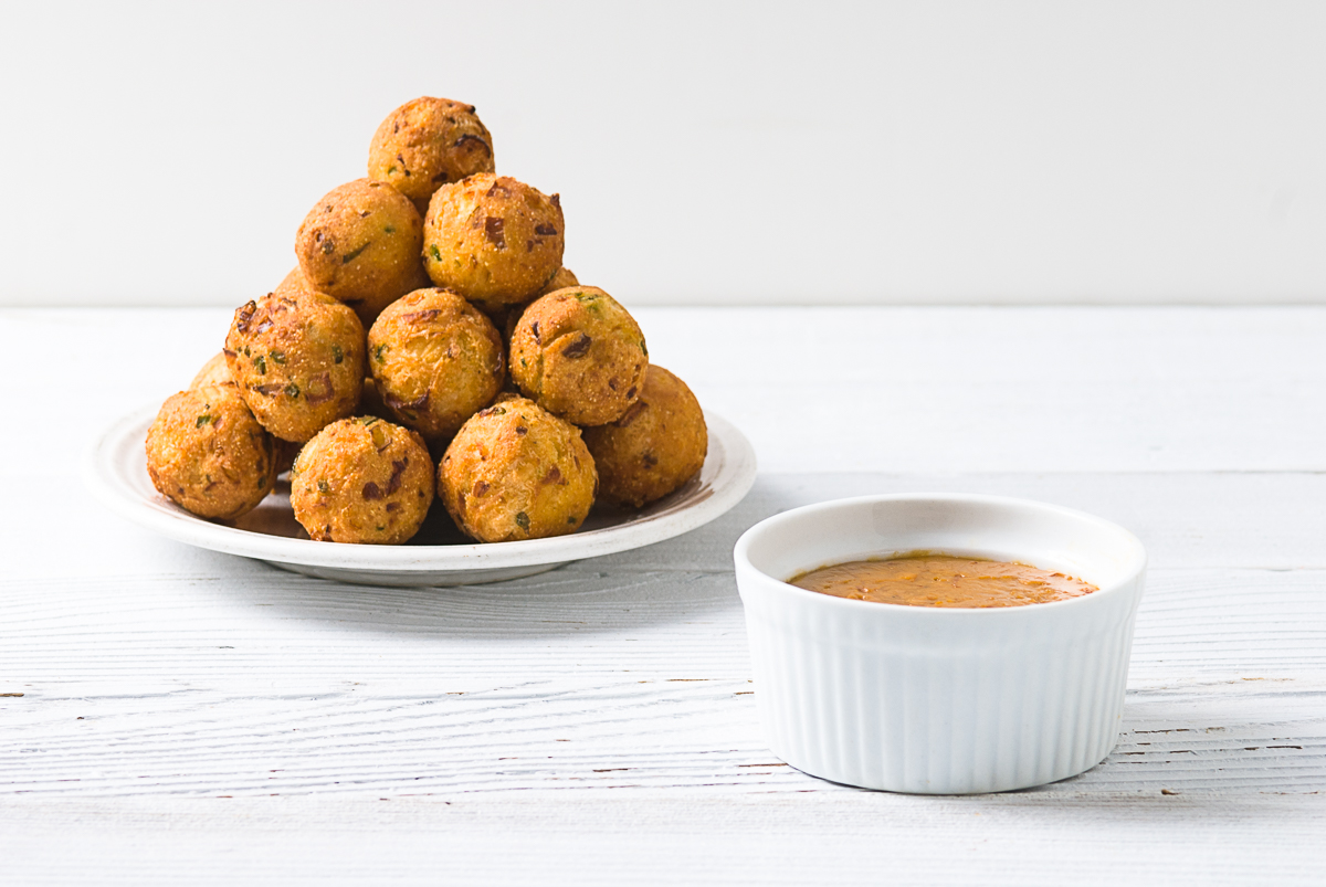 Hush Puppies With A Smoked Cheddar Dip
