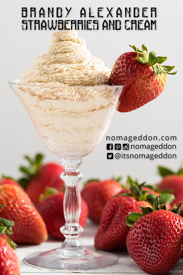 Strawberries and Cream Brandy Alexander