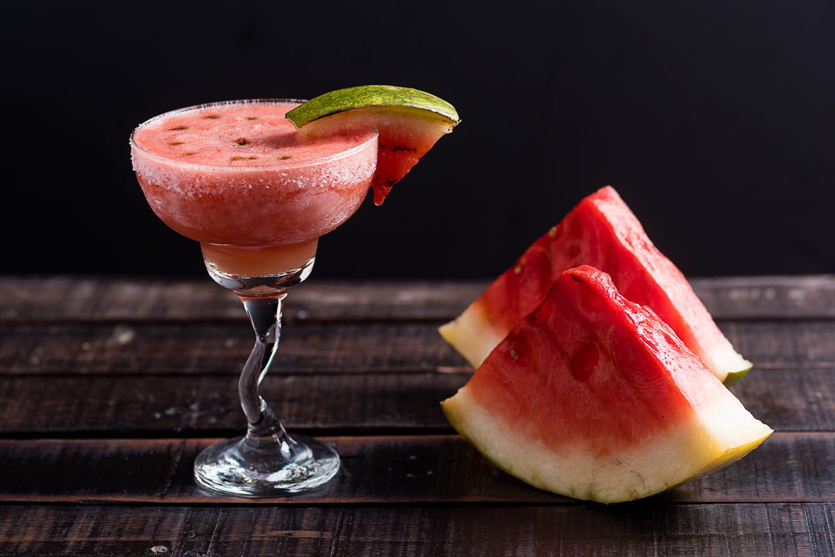 Grilled Watermelon Frozen Margarita