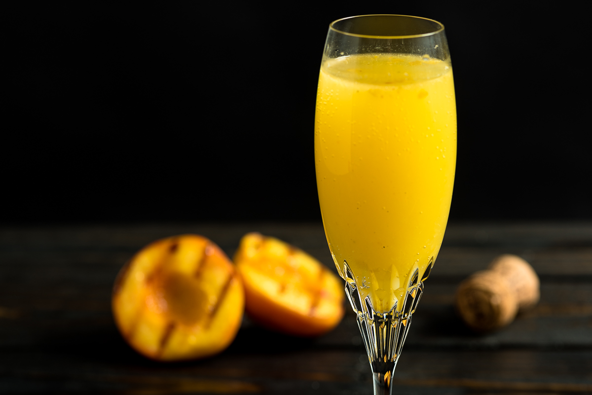Grilled Peach Bellini