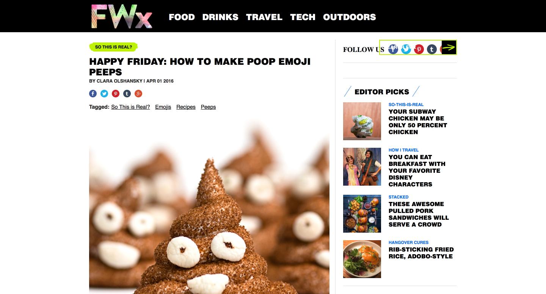 Food And Wine X Poop Peeps