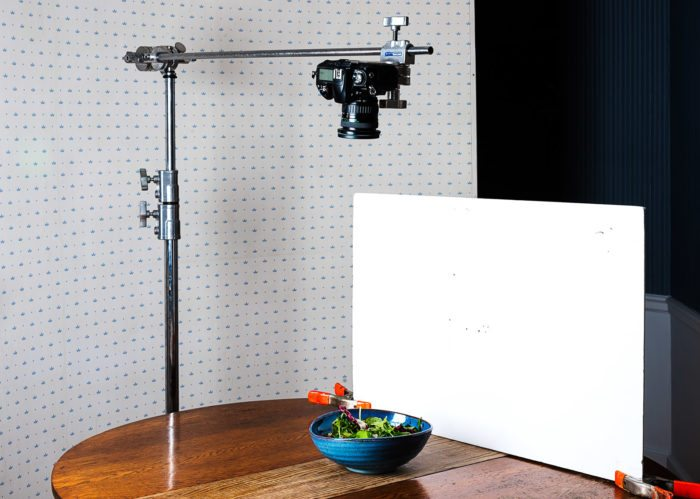 Shooting a tasty style video with a C Stand
