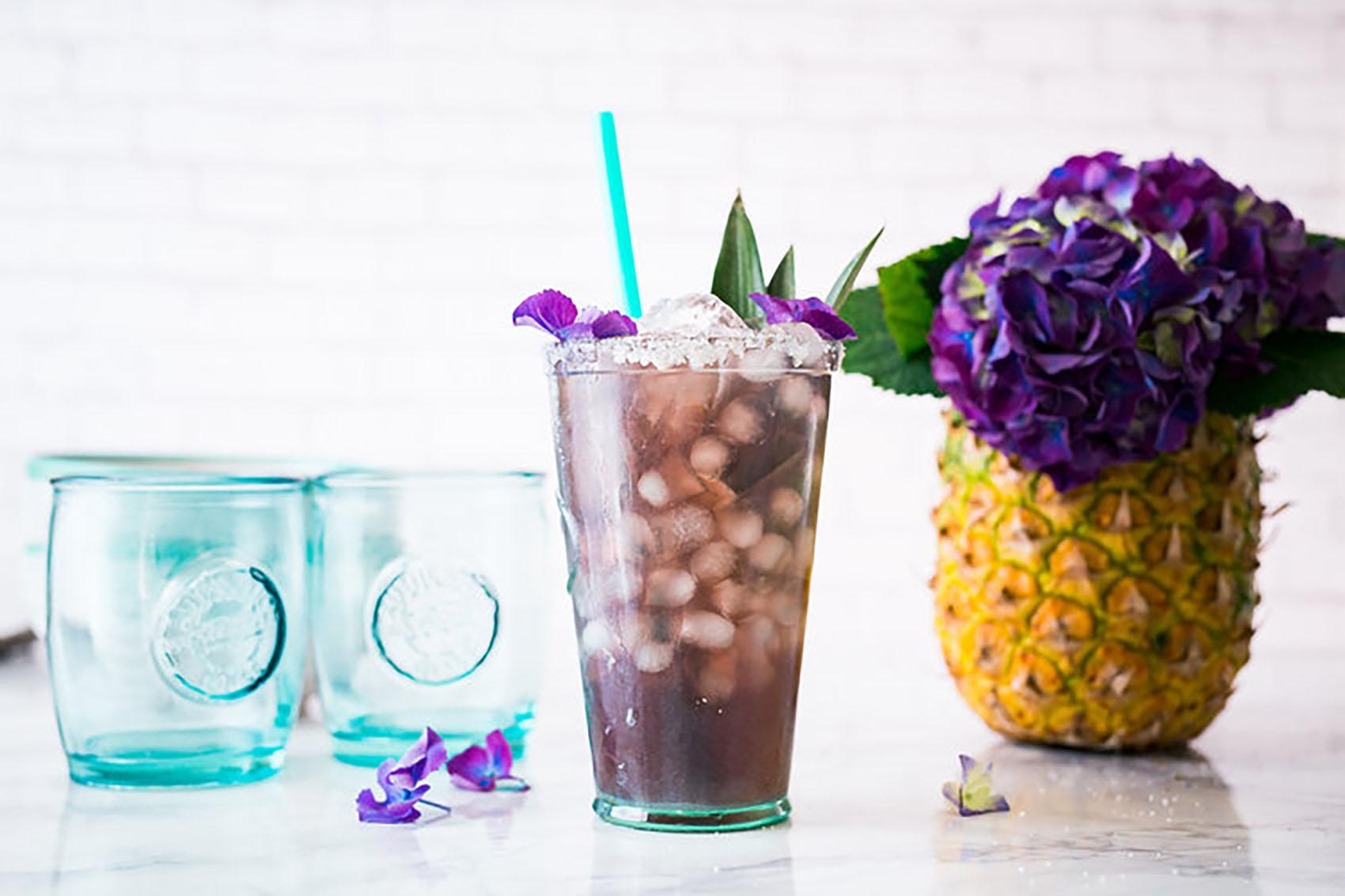 Cheeky Kitchen Kombucha Lavender Violette Vodka Cocktail