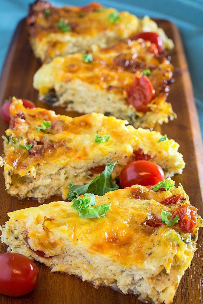 Cheesy Crustless Kale Quiche