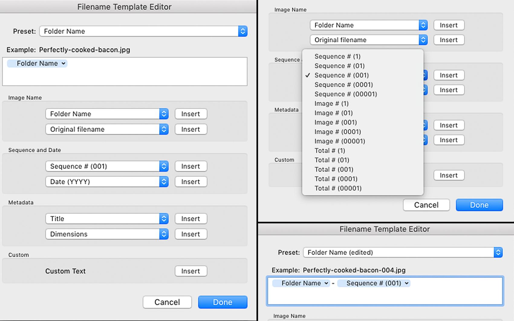 Making Export Presets In Adobe Lightroom File Naming