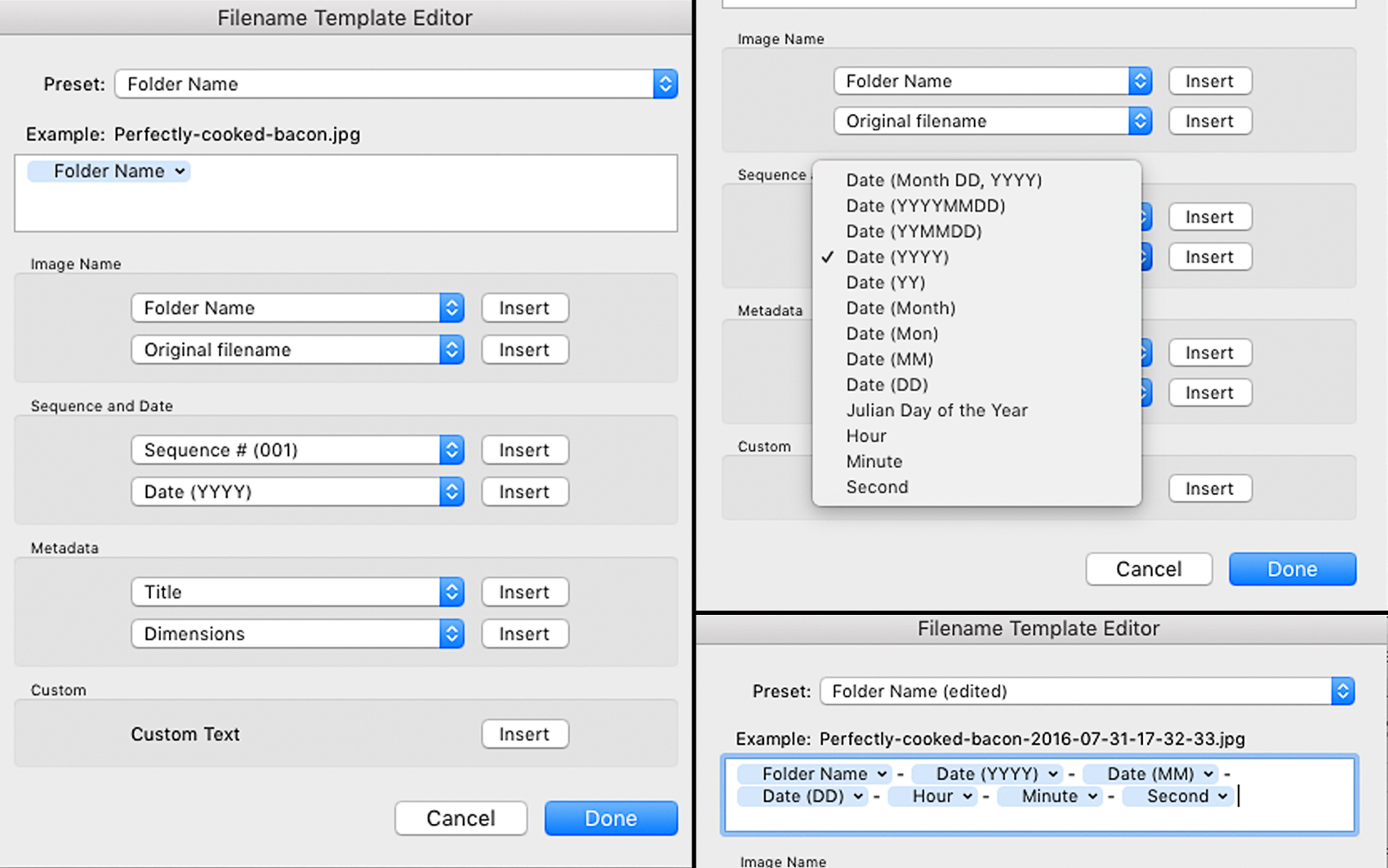 Making Export Presets In Adobe Lightroom File Naming Date