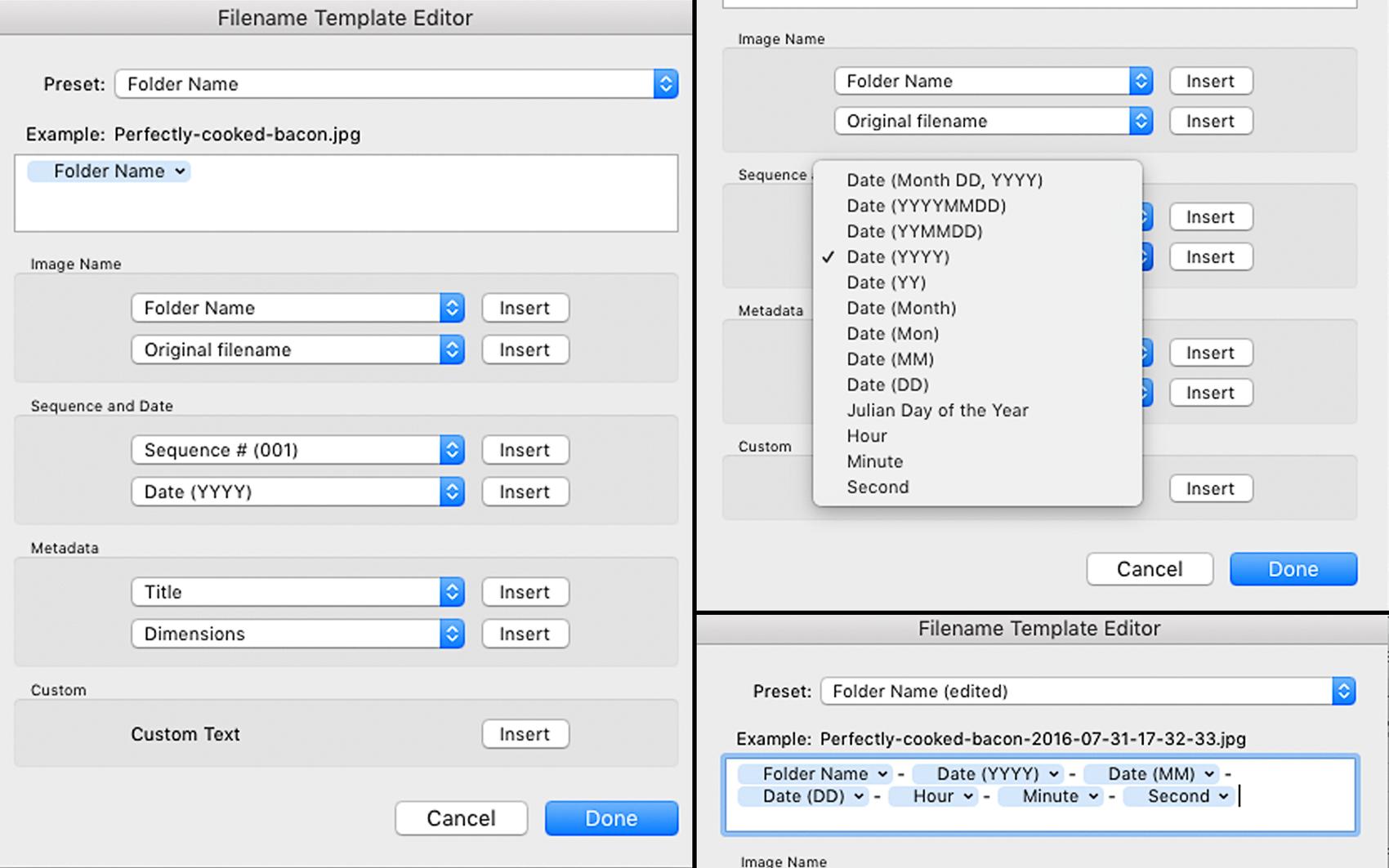Making Export Presets In Adobe Lightroom File Naming Date
