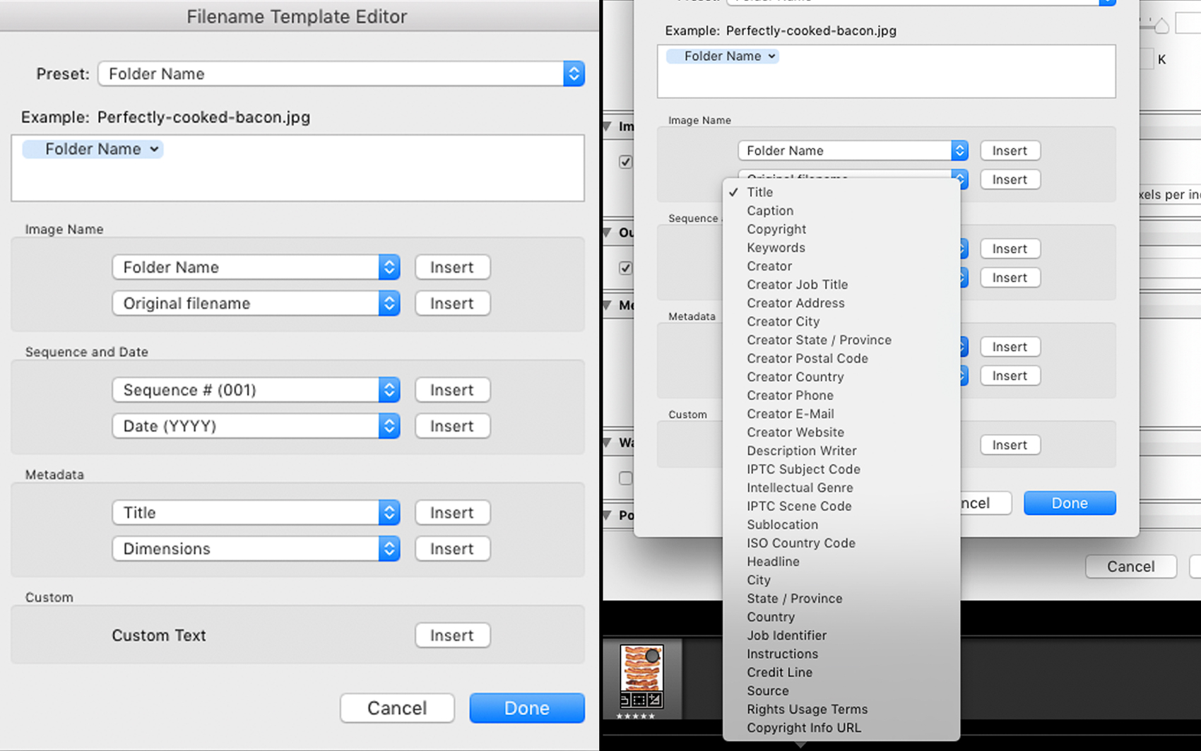 Making Export Presets In Adobe Lightroom File Naming Metadata