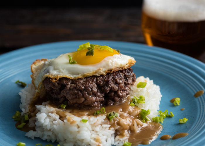 Loco Moco With Roasted Garlic Gravy
