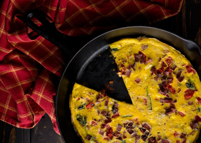 Bacon Spinach Feta Frittata