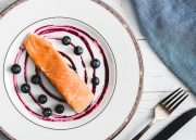 Sous Vide Superfood Salmon With A Blueberry Jalapeno Sauce