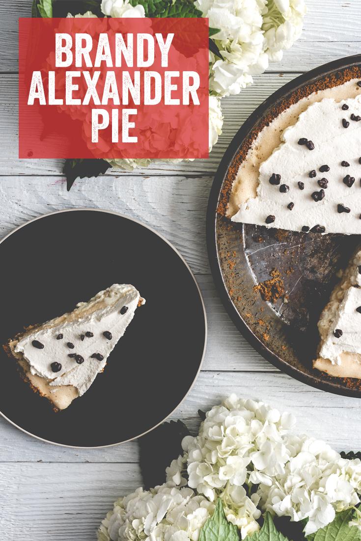 Brandy Alexander, Cordial Pie, Cream Pie, Dessert, Pie Day, Graham Cracker Crust, Pi Day, Merengue Pie
