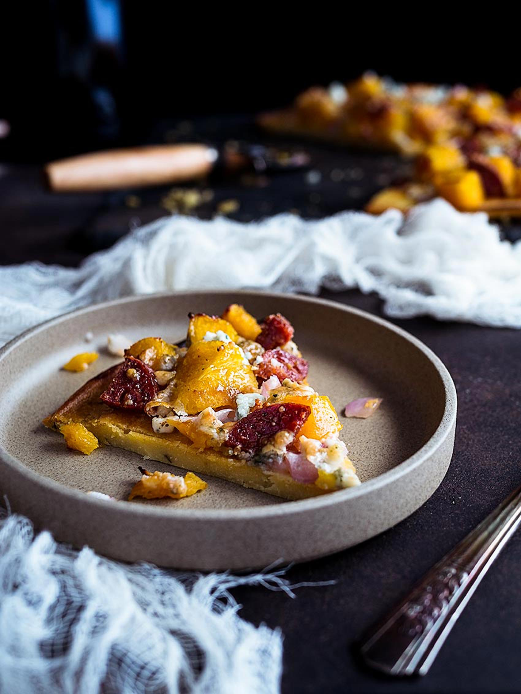 Acorn Squash Pizza With Chickpea Crust