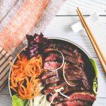 Spicy Sous Vide Steak Teriyaki Salad Bowls