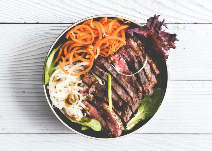 Spicy Sous Vide Steak Teriyaki Salad Bowls