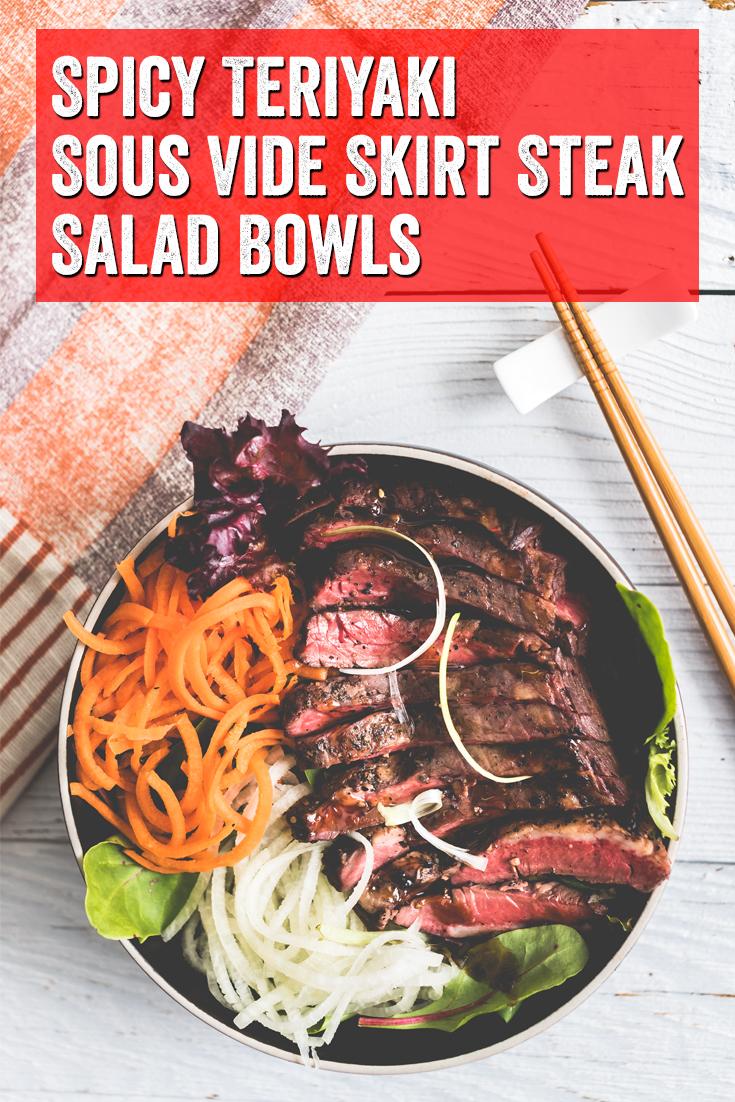 #SousVide #SousVideSteak #SteakTeriyaki #SaladBowl #SaladBowls #HealthyDinner #TeriyakiSteak Sous vide steak, sous vide, steak teriyaki, salad bowl, healthy dinner