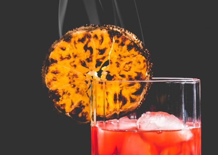 Smoked Cocktail Mezcal Negroni