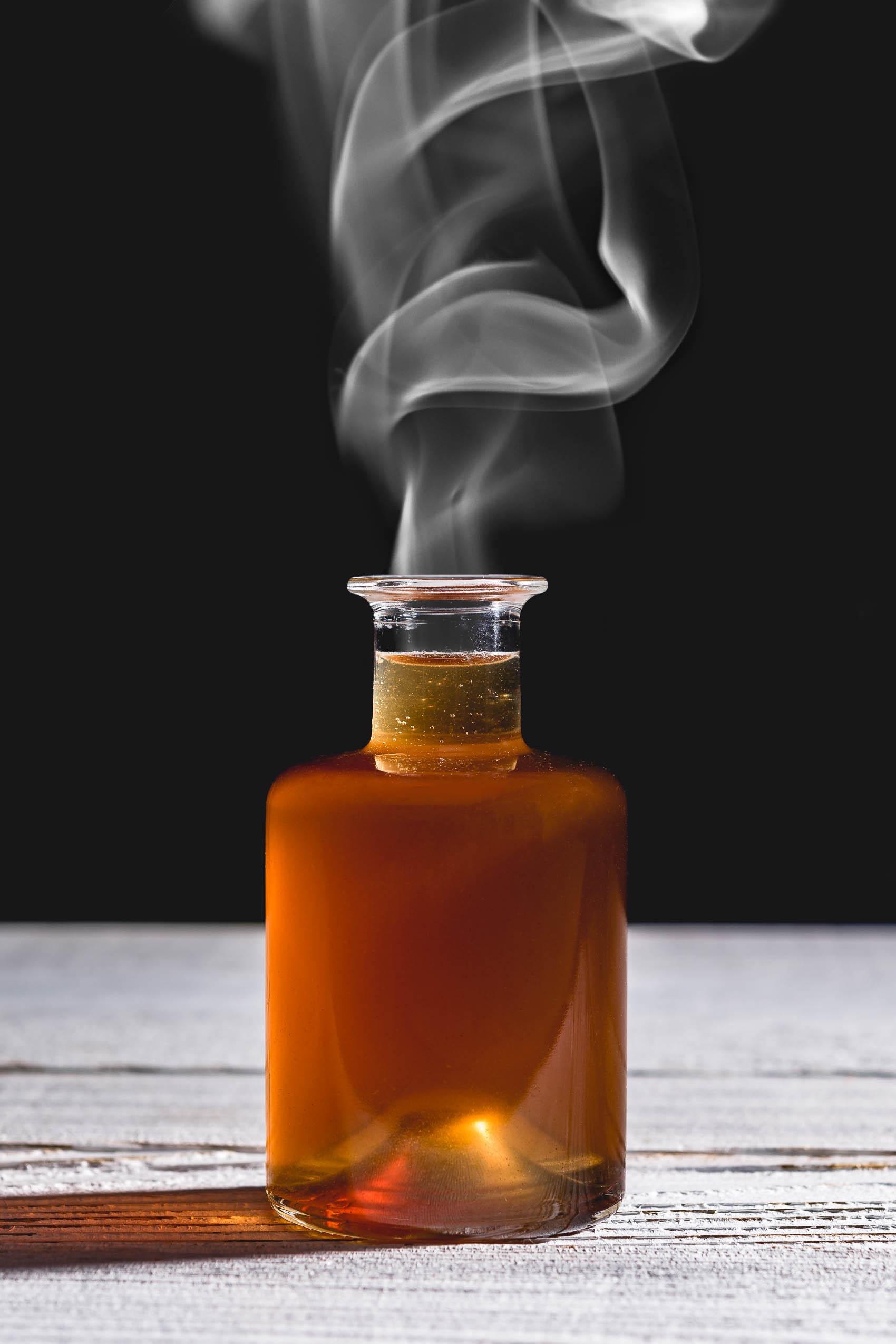 DIY Smoked Simple Syrup