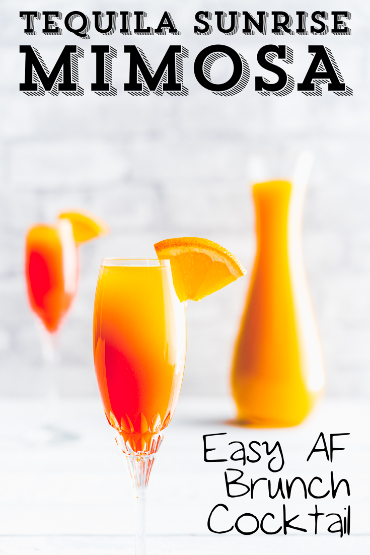 #TequilaSunrise #BrunchMimosa #Mimosa #BrunchCocktail #TequilaCocktail #ChampagneCocktail #OrangeJuiceCocktail #Grenadine #OrangeJuice #EasyBrunchCocktail #SundayFunday, Tequila Sunrise Mimosa, Tequila Sunrise, Orange Juice cocktail, Easy Brunch Cocktail, Brunch Cocktail, Brunch Mimosa, Mimosa, Tequila Cocktail