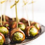 Bacon Wrapped Brussel Sprouts Balsamic Glaze